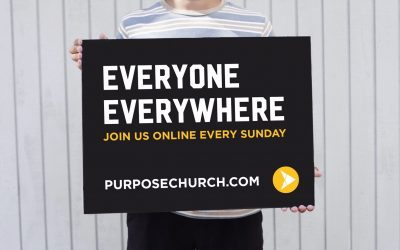 New Purpose Church Lawn Sign